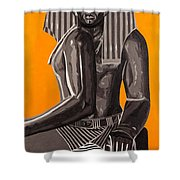 Front And Side Egyptian Pharoah Shower Curtain