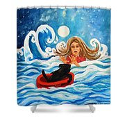 Front Cover Shower Curtain