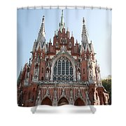 Front Entrance To St Joseph Church Krakow Shower Curtain