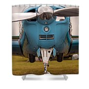 Front Of An Airplane Propeller Shower Curtain