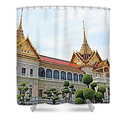 Front Of Reception Hall At Grand Palace Of Thailand In Bangkok Shower Curtain
