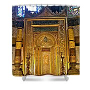 Front Of Saint Sophia's Museum In Istanbul-turkey Shower Curtain