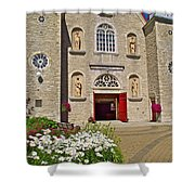 Front Of Sainte-famille Church On Ile D'orleans-qc Shower Curtain