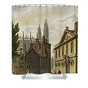 Front Of Trinity Hall, Cambridge Shower Curtain