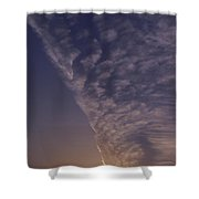 Front Passing Through Sky Southern Alps Shower Curtain
