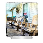 Front Porch On An Old Country House 2 Shower Curtain