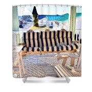 Front Porch On An Old Country House  3 Shower Curtain