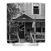 Front Porch Usa Black And White Shower Curtain