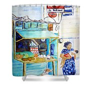 Front Street Shop Shower Curtain
