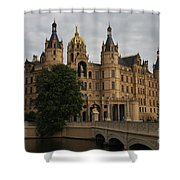 Front View Of Palace Schwerin Shower Curtain