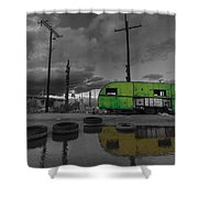 Front Yard Path Black And White Shower Curtain