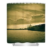 Frontier Ambition Ship Shower Curtain