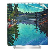 Frood Lake Outlet Shower Curtain