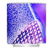 Frost Crystals Abstract Shower Curtain