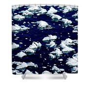 Frost Flakes On Ice - 05 Shower Curtain