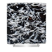 Frost Flakes On Ice - 07 Shower Curtain