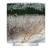 Frost Flakes On Ice - 13 Shower Curtain