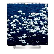 Frost Flakes On Ice - 21 Shower Curtain
