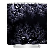 Frost In The Moonlight Fractal Shower Curtain