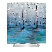 Frost Like Ashes Shower Curtain