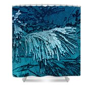 Frost Needles 2 Shower Curtain