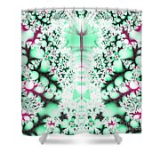 Frost On The Grass Fractal Shower Curtain
