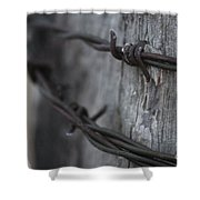 Frost On The Wire Shower Curtain