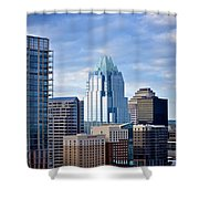 Frost Tower Iphone And Prints Shower Curtain
