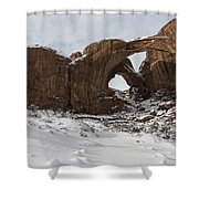 Frosted Double Arch Shower Curtain