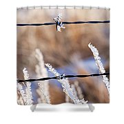 Frosted Fence Line Shower Curtain