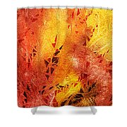 Frosted Fire IIi Shower Curtain