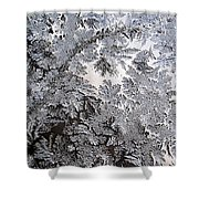 Frosted Glass Abstract Shower Curtain