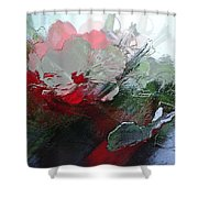 Frosted Hibiscus 2 Shower Curtain