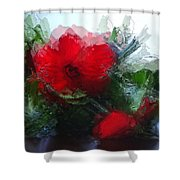 Frosted Hibiscus 3 Shower Curtain