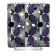Frosted Purple Flower Shower Curtain