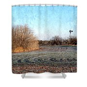 Frosted Wheat Shower Curtain