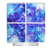 Frosted Window Abstract Collage Shower Curtain