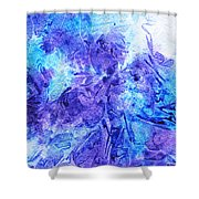 Frosted Window Abstract I   Shower Curtain