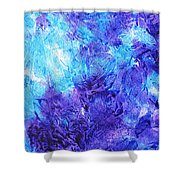 Frosted Window Abstract IIi Shower Curtain