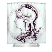 Frosty 1896 French Indochina Shower Curtain