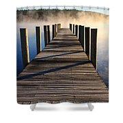Frosty Docks 3 Shower Curtain