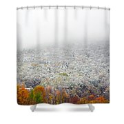 Frosty Fall Shower Curtain