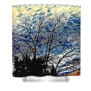 Frosty Fall Tree Shower Curtain