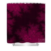 Frosty Fuchsia Fantasy Fractal Shower Curtain