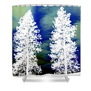Frosty Giants Shower Curtain