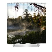 Frosty Glow Shower Curtain