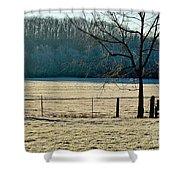 Frosty Morning Winter Landscape Shower Curtain