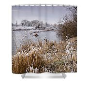 Frosty River Tyne Shower Curtain