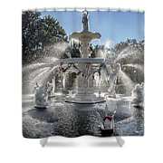 Frosty Savannah Winter Dream Shower Curtain