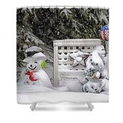 Frosty The Snow Man Shower Curtain